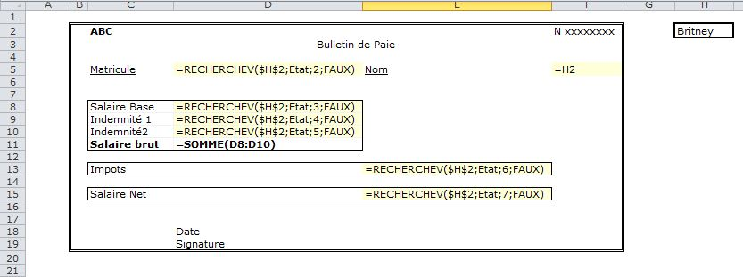 Favorit 4- Gérer la paie avec Excel: Edition des Bulletins de paie avec  VA05